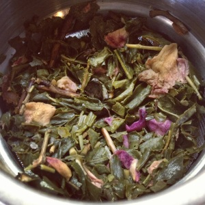 Pictured above is a speciality tea blend infused with rose petals that was created specifically for Valentine's Day.